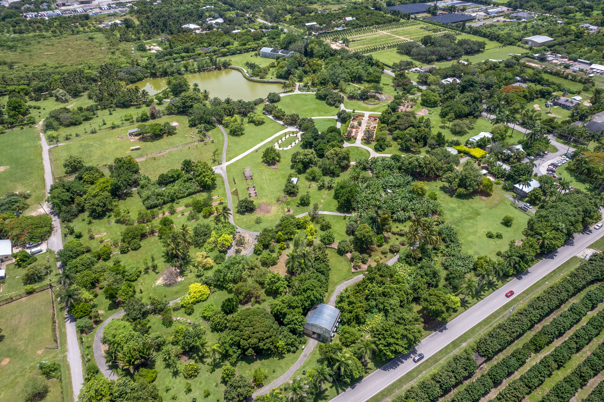 Fruit & Spice Park aerial view - southwest