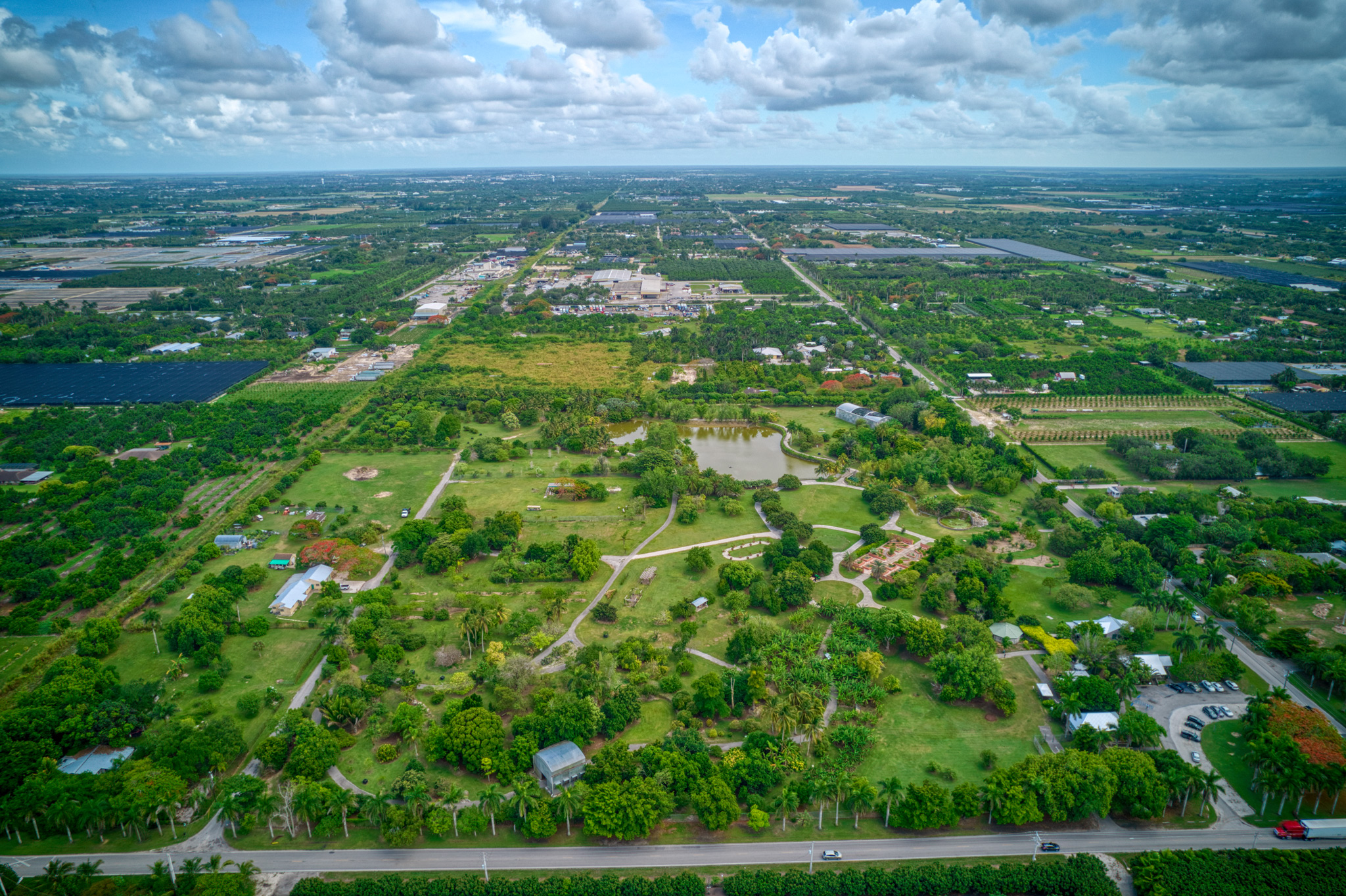 Fruit & Spice Park aerial view - south